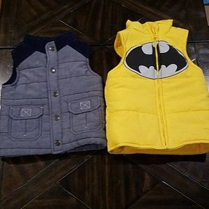 Two boys vests 12 month and 2T